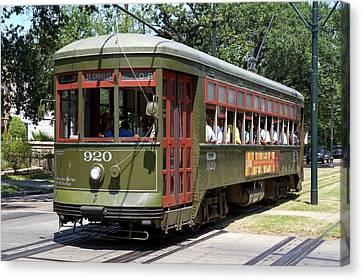 New Orleans Streetcar Canvas Print by Photostock-israel