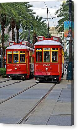 New Orleans Streetcars Canvas Print by Christine Till