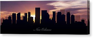 New Orleans Sunset Canvas Print by Aged Pixel