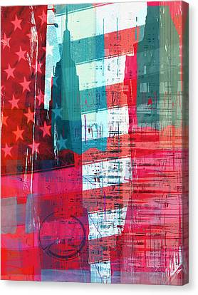 New Paint - New York Empire State I Canvas Print