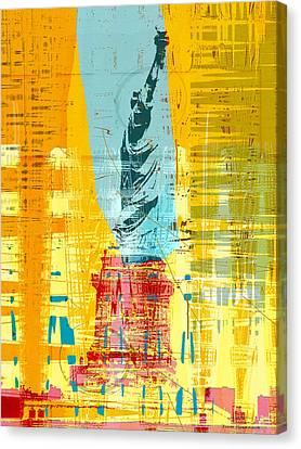 New Paint - New York Liberty Statue I Canvas Print