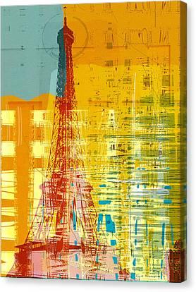 New Paint - Paris Eifel I Canvas Print by Joost Hogervorst
