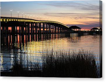 New Pier Sunset Canvas Print by Steve Phillips
