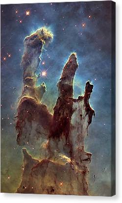 Eagle Canvas Print - New Pillars Of Creation Hd Tall by Adam Romanowicz