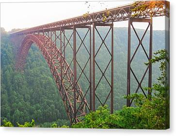Canvas Print featuring the photograph New River Gorge Bridge   by Lars Lentz