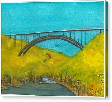 New River Gorge Bridge On Bridge Day Canvas Print