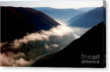 Grandview Canvas Print - New River Gorge National River                           by Thomas R Fletcher