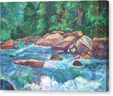 New River Fast Water Canvas Print