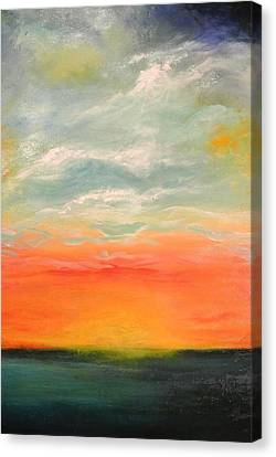 Canvas Print featuring the painting New Sky 2013 by Tamara Bettencourt