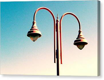 Beach Lamp Post Canvas Print