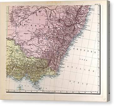 New South Wales Gotha Justus Perthes 1872 Atlas Canvas Print