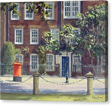 New Square, Lincolns Inn Oil On Canvas Canvas Print by Julian Barrow