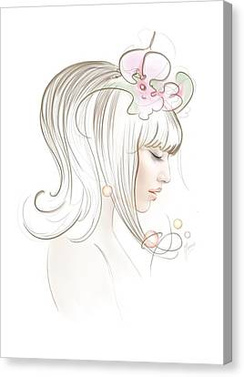 Canvas Print featuring the drawing New Star by Anna Ewa Miarczynska