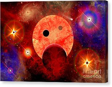 New Star Formation In A Vast Gaseous Canvas Print by Stocktrek Images
