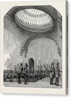 New Station Of The London And North-western Railway Canvas Print