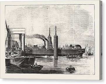 New Steam Ferry-boat For The Thames, The Jessie May Canvas Print