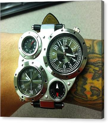 New #steampunk Watch Has Arrived! Canvas Print by Brian Lapsley