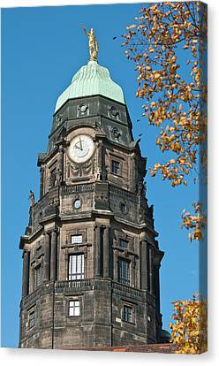 New Town Hall In Dresden, Germany Canvas Print