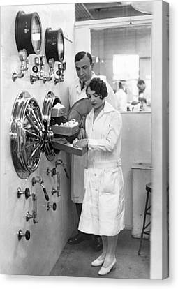 New Type Of Autoclave Canvas Print by Underwood Archives