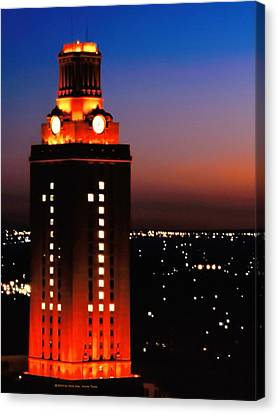 University Of Texas Canvas Print - New Version Of The Ut Tower by Gary Dow