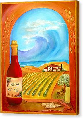 New Wine  Joel 2 Canvas Print