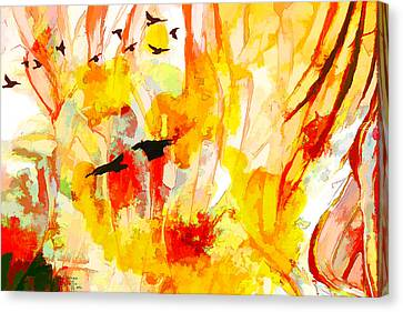 Canvas Print featuring the painting New World by Ron Richard Baviello