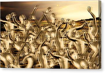 New World Surrender Canvas Print by Betsy Knapp