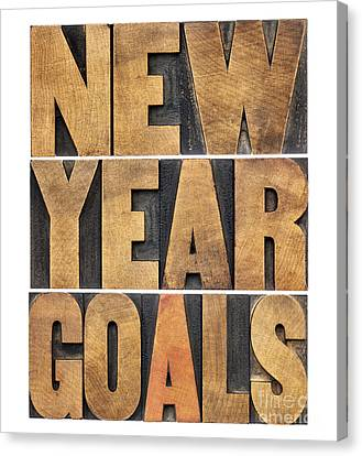 Canvas Print featuring the photograph New Year Goals by Marek Uliasz