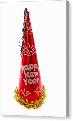 Happy New Year Party Hat Canvas Print