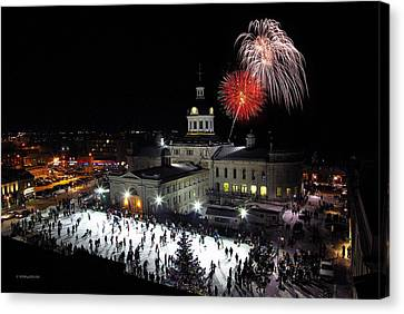 New Year Rockin' In The Clock Canvas Print by Paul Wash