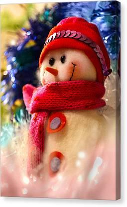 New Year Snowman Canvas Print