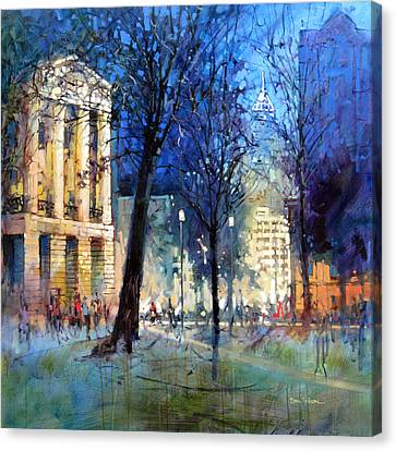New Year's Eve Downtown Canvas Print
