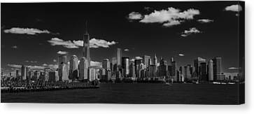 New York 1 Black And White Canvas Print