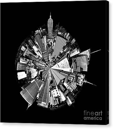 Downtown Canvas Print - New York 2 Circagraph by Az Jackson