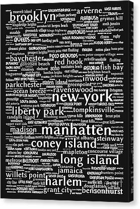 New York 20130709bw Canvas Print by Wingsdomain Art and Photography