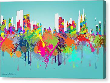Abstract Digital Canvas Print - New York 7 by Mark Ashkenazi