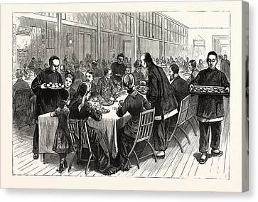 New York A Chinese New Years Tea Party In The Trinity Canvas Print