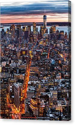 New York Aerial Cityscape Canvas Print by Mihai Andritoiu