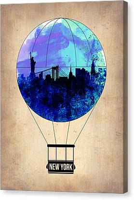 New York Air Balloon 2 Canvas Print by Naxart Studio