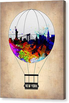 New York Air Balloon Canvas Print by Naxart Studio