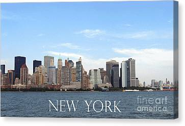 Canvas Print featuring the photograph New York As I Saw It In 2008 by Ausra Huntington nee Paulauskaite