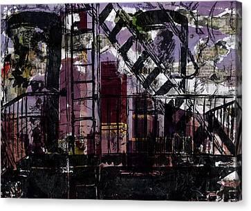 Liberty Avenue Canvas Print - New York Balcony by Lauren Caldwell