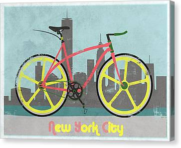 New York Bike Canvas Print