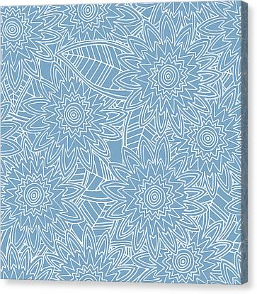 Summer Flowers Canvas Print - New York Blue Fleur by Sharon Turner