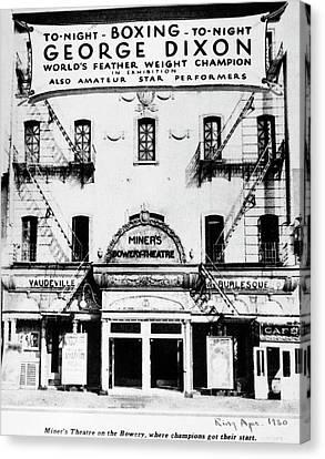New York Bowery Theater Canvas Print