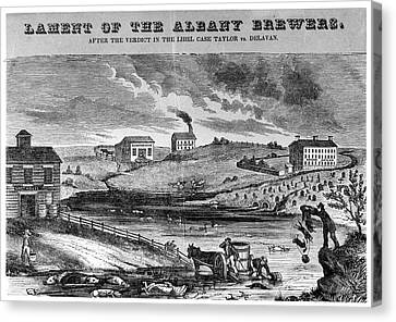New York Brewers, C1840 Canvas Print by Granger