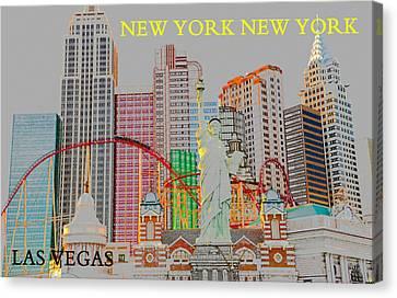 New York Casino Las Vegas Canvas Print by David Lee Thompson