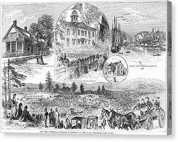 New York Centennial, 1877 Canvas Print by Granger