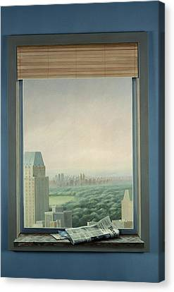 New York Central Park Canvas Print by Lincoln Seligman