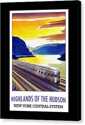 New York Central Vintage Poster Canvas Print